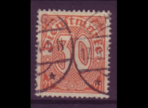 Dt. Reich Dienst D 20 Einzelmarke 30 Pf gestempelt /2