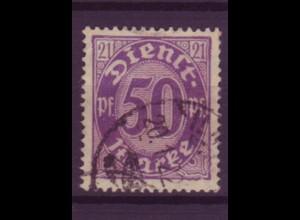 Dt. Reich Dienst D 21 Einzelmarke 50 Pf gestempelt /2