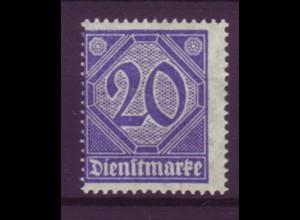 Dt. Reich Dienst D 26 Einzelmarke 20 Pf Zähnung im Markenbild postfrisch