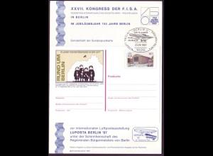 Sonderblatt Berlin Mi.Nr.774 XXVII. KONGRESS F.I.S.A. 750 Jahre Berlin
