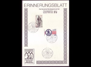 Sonderblatt Berlin Mi.Nr. 562+569 NAPOSTA `78 Frankfurt a.Main