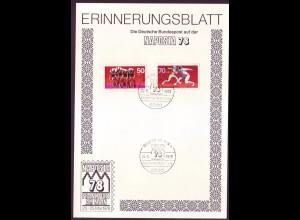 Sonderblatt Berlin Mi.Nr. 567-568 NAPOSTA `78 Frankfurt a.Main