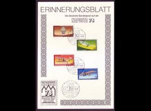 Sonderblatt Berlin Mi.Nr. 563-566 NAPOSTA `78 Frankfurt a.Main