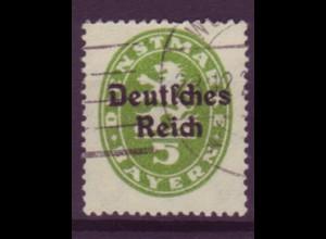 Dt. Reich Dienst D 34 Einzelmarke 5 Pf gestempelt 23.12 /3