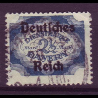 Deutsches Reich Dienst D 49 Einzelmarke 2 1/2 M gestempelt /3
