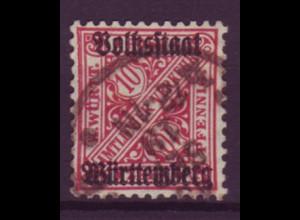 Deutsches Reich Dienst D 58 Einzelmarke 10 Pf gestempelt SEP /2