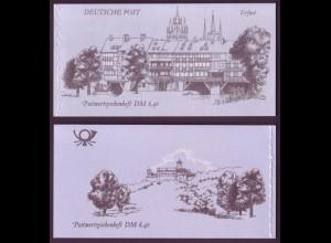 DDR Markenheftchen 10 Bauwerke + Denkmäler 1990 gestempelt Berlin