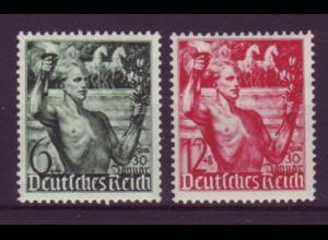 Deutsches Reich 660-661 Fackelträger vor Brandenburger Tor 6+4 Pf + 12+8 Pf **