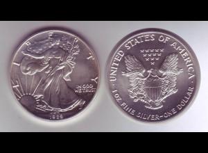 Silbermünze 1 OZ USA Liberty 1 Dollar 1989