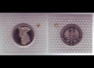Münze 5 DM 1986 F Friedrich der Grosse polierte Platte /43
