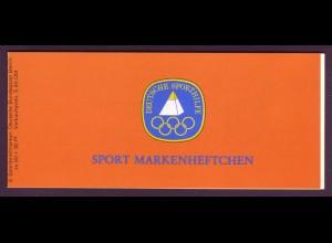 Berlin Sport Markenheftchen 6x 622 60 Pf. 1980 postfrisch