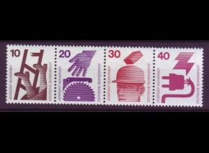 Bund 695,696+698,699 Zusammendruck aus MHB 18 Unfall 10/20/30/40 Pf postfrisch