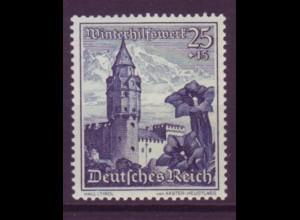 Deutsches Reich 682 Ostmarklandschaften+Alpenblumen 25+15 Pf **